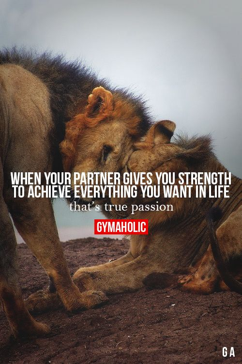 When Your Partner Gives You Strength