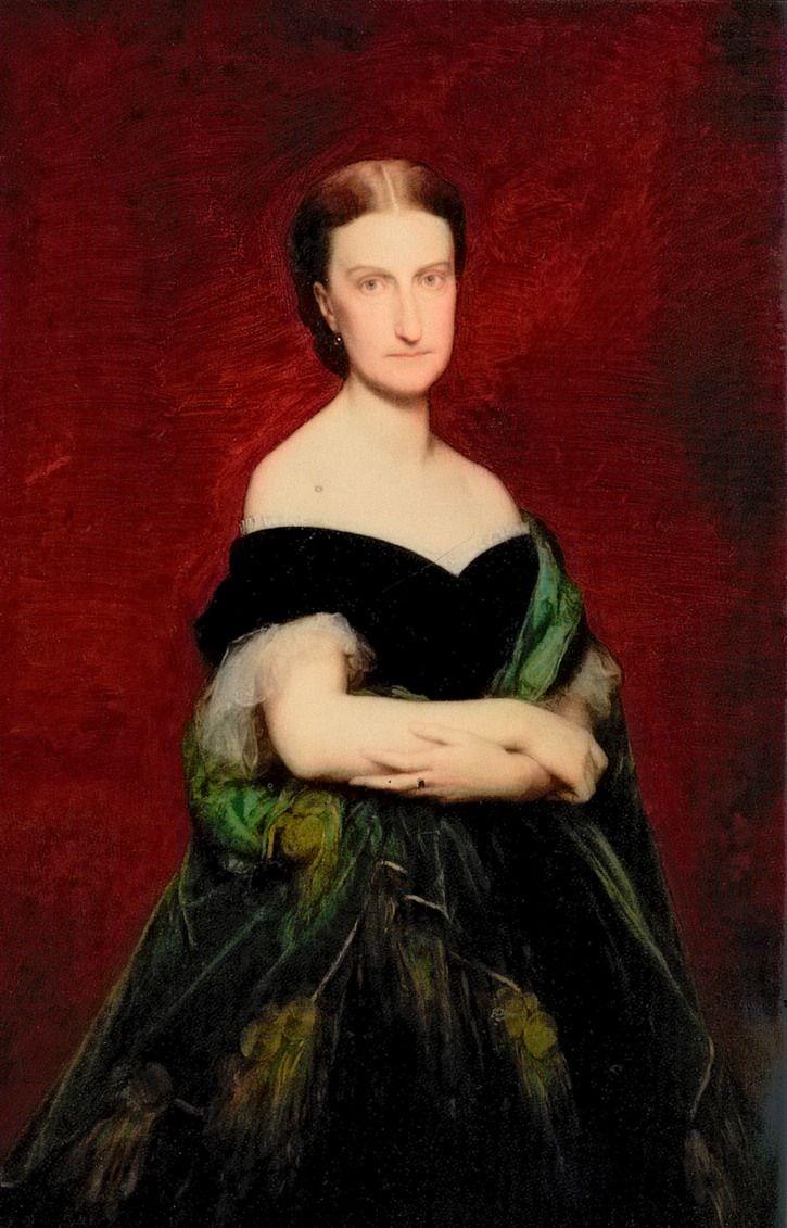 1866 Marie Caroline Auguste de Bourbon-Siciles, Duchesse d'Aumale by Charles-François Jalabert (Musée Condé - Chantilly France) | Grand Ladies | gogm