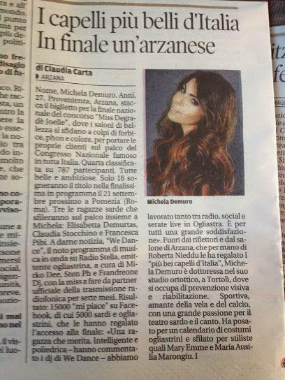 Si parla di noi e del nostro concorso Miss Degradé Joelle  #cdj #missdegradejoelle #degradejoelle #giornale