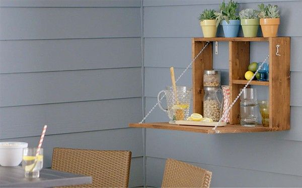 how to build an outdoor serving station
