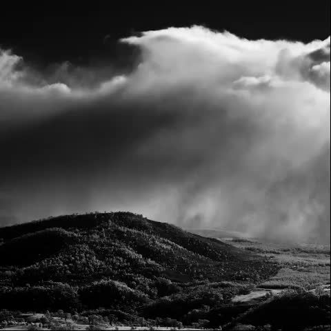 Snow drifting in off the Brindabellas (west from Mt Stromlo) - from part three | winter of 'brindabellas | edge of light' #fullspectrum