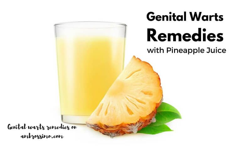 Home Remedies for Genital Warts with Pineapple Juice