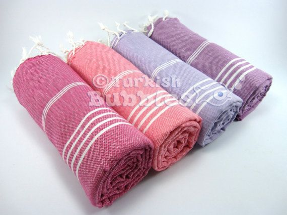 FREE Shipment Set of 4 Turkish Towels BEACH Towel Turkish Towel Fouta Peshtemal Pareo Sarong Hammam Towel Spa Gym Towel Exclusive Cotton