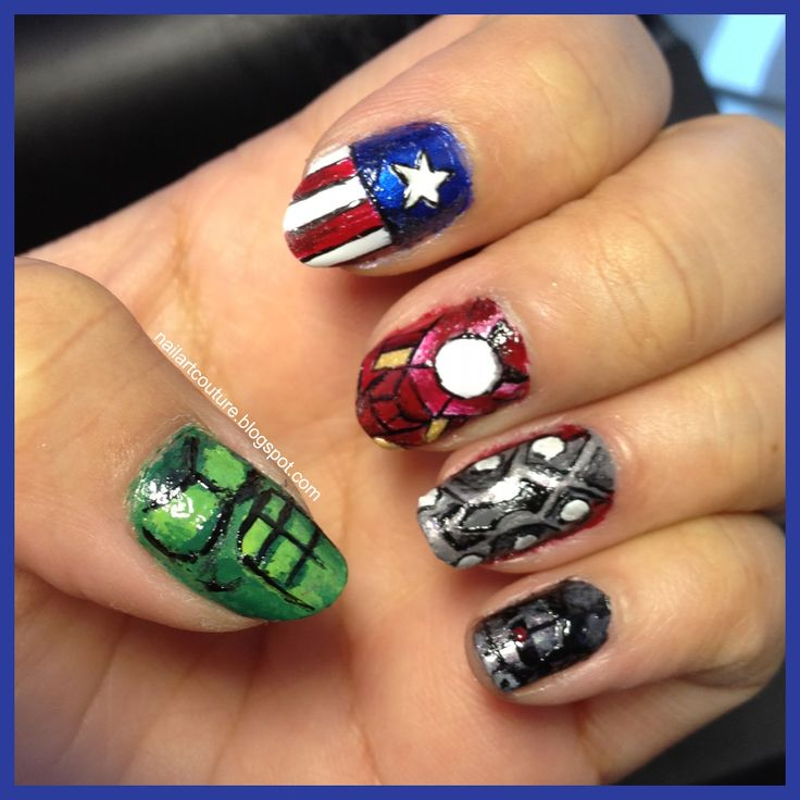 The Avengers Nail Art! Ready for the movie to come out!