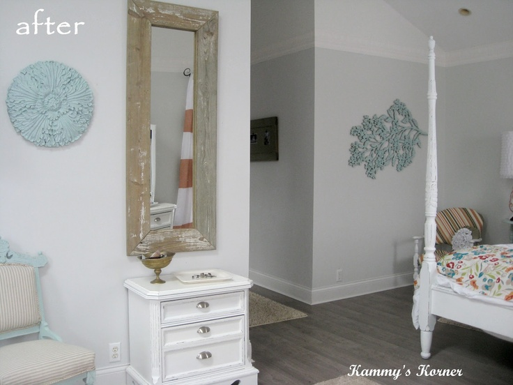 Frame a cheap full-length mirror with reclaimed wood.