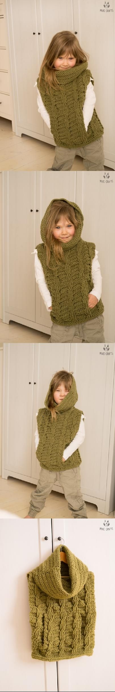 Cable Poncho Cora Crochet Pattern