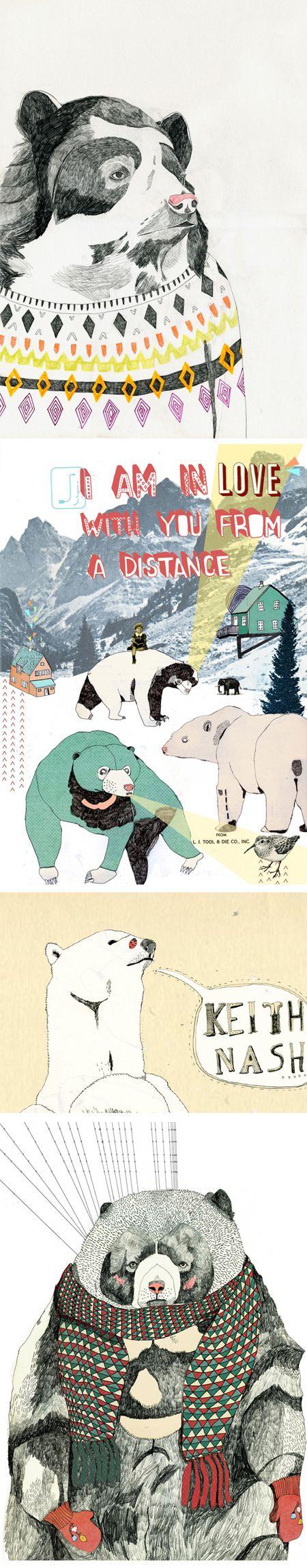 julia pottJulia Potts, Curator Contemporary, Polar Bears, Jealous Curator, Fashion Models, Contemporary Art, Bears Art, Animal Etchings Design, Art Illustration