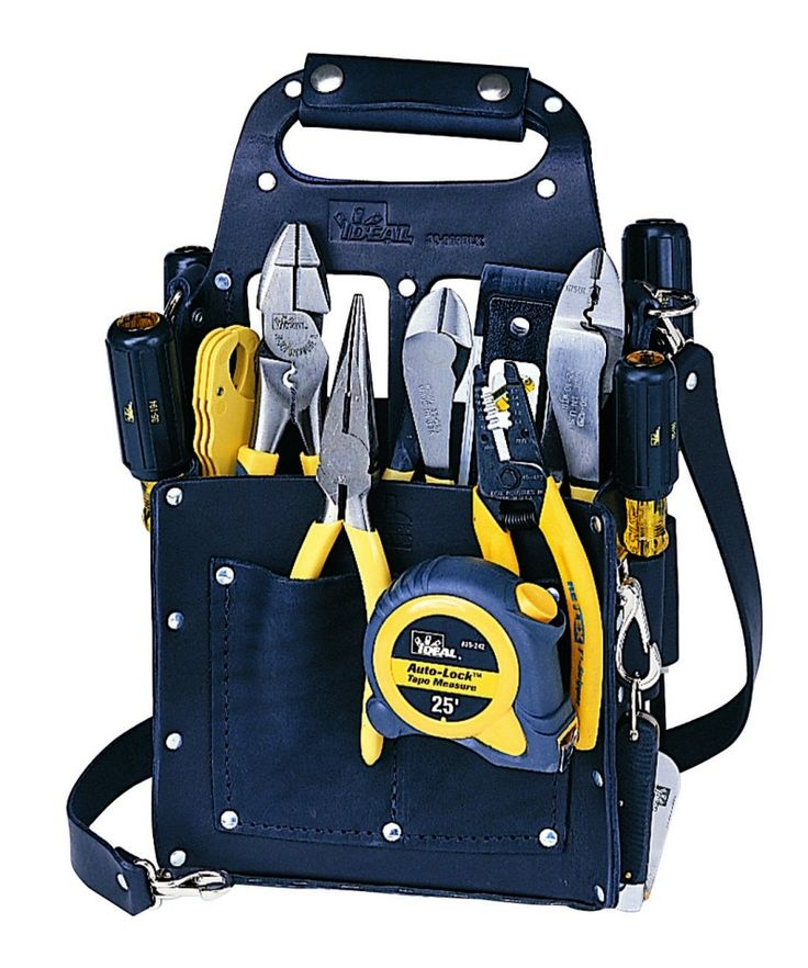 Electrician tool pouch and kit combo set