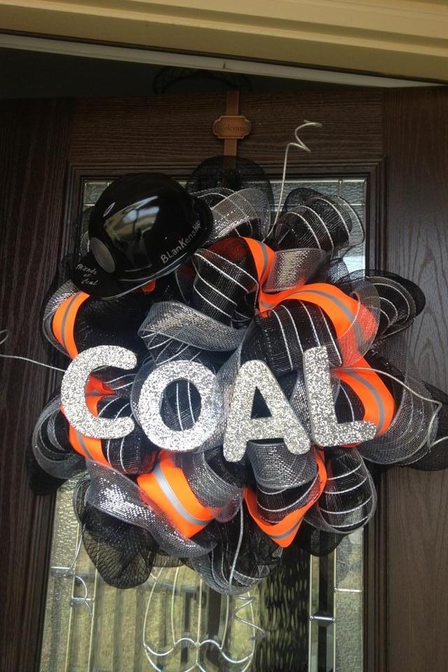 Coal wreath
