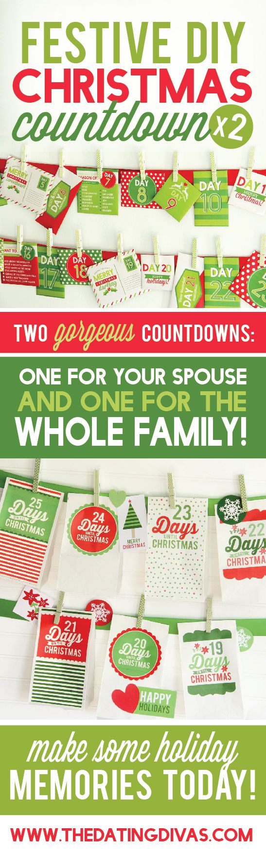 Can't wait to use these darling Christmas countdowns- my hubby and my kids are going to love this! www.TheDatingDivas.com