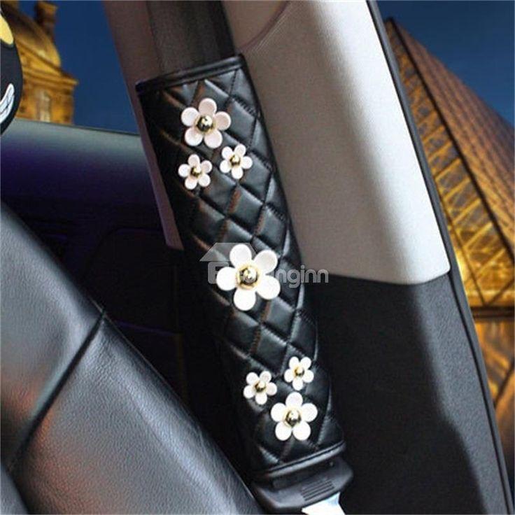 Little White Daisy Design Lovely Car Seat Belt Cover