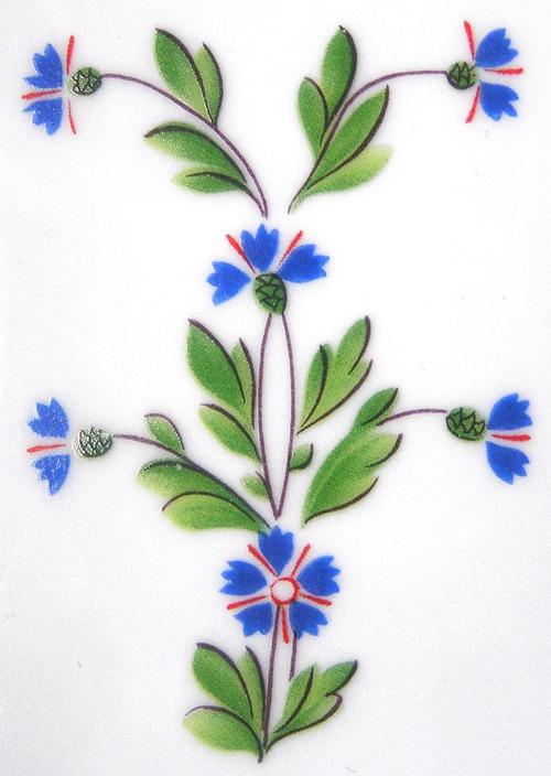 Cornflower decoration - Vieux Paris, décor Barbeaux - Manufacture de la Reine