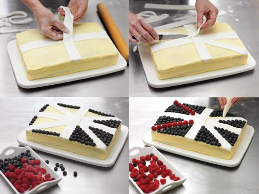Easier Union Jack Cake Design