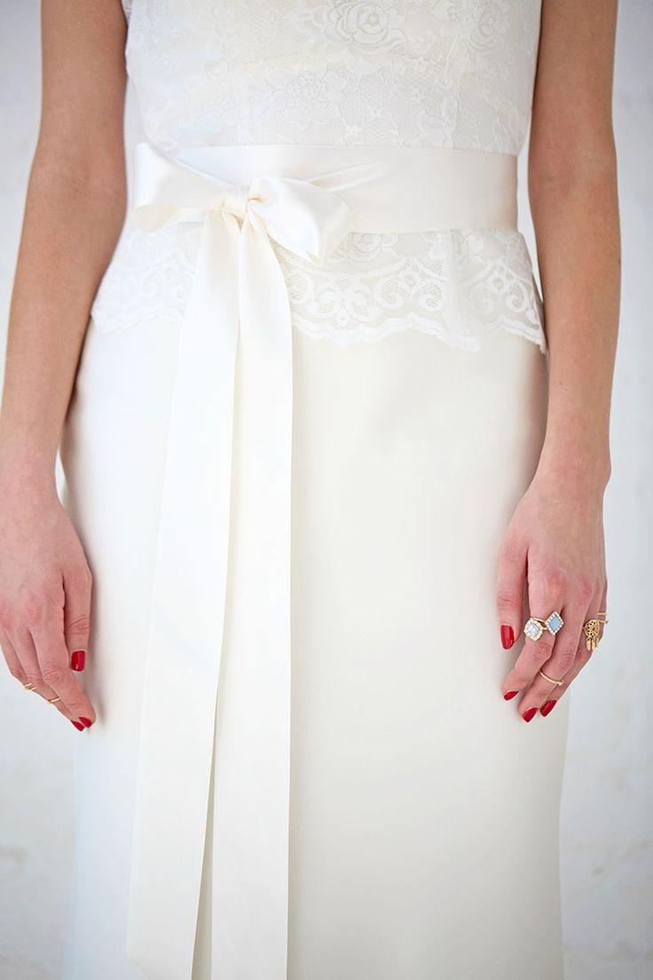 Blythe   Satin Ribbon Belt   Wedding Gown Belt   Charlotte Balbier