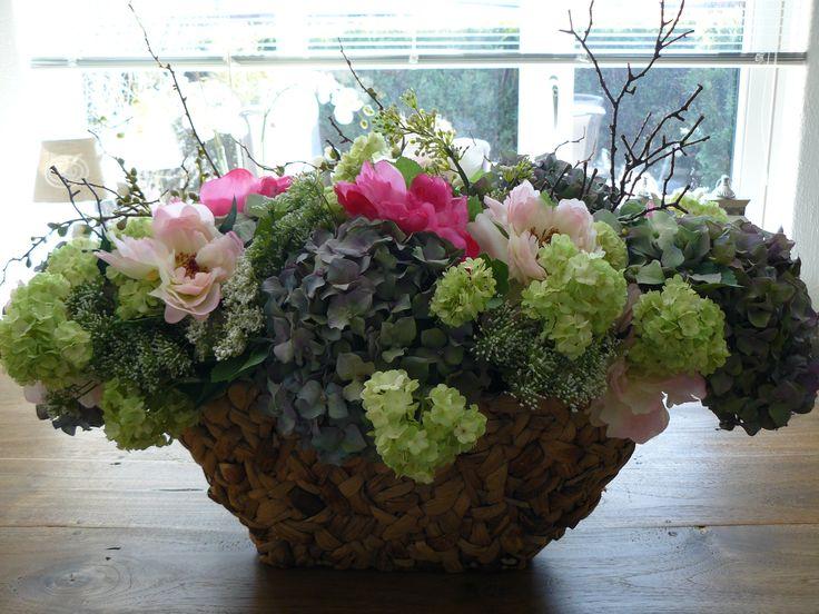 Boeket van zijde bloemen!!!
