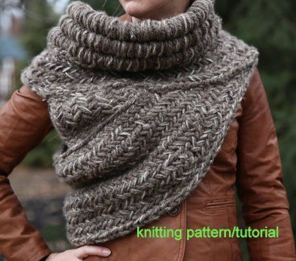 Cowl Vest Knitting Pattern Free : 2019 best images about Crochet + Knits on Pinterest