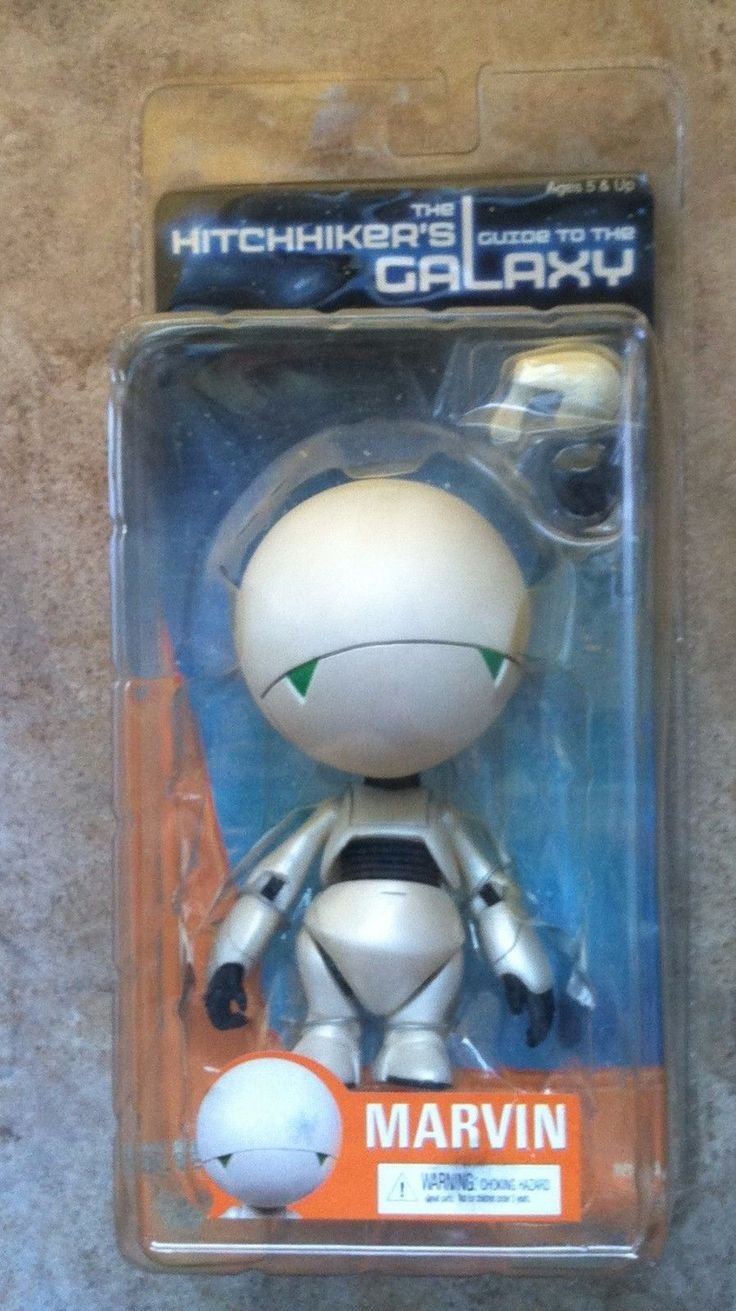 Rare HITCHHIKERS GUIDE TO THE GALAXY MARVIN ROBOT ACTION FIGURE MIB NECA 858 | eBay