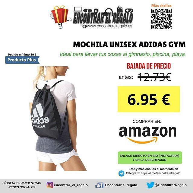 Mochila gimnasio Adidas Unisex PRODUCTO PLUS (pedido mínimo 19)  Baja de 12.73  a 6.98   Bolso mochila para llevar tus cosas al gimnasio Comprar en Amazon: http://amzn.to/2p9uYYZ  #Adidas #Gym #Gimnasio #Vidasana #Deporte #Bolso #Mochila