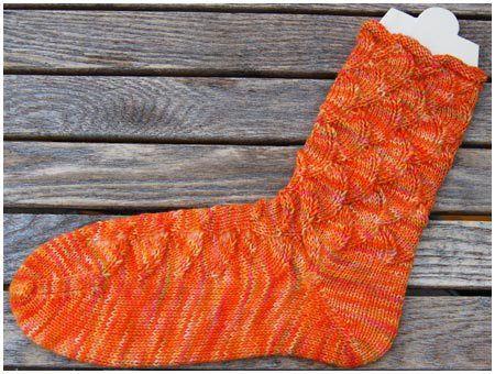 Sockenwolle handgefärbt Mandarine