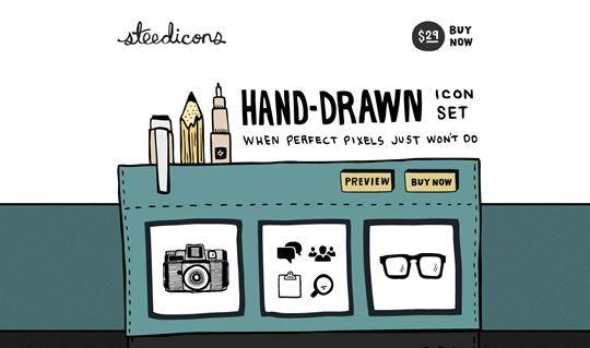 Illustration in Web Design: Webdesign, Design Inspiration, Web Design, Hands Drawn Icons, Illustration, Hands Drawn Website, Handdrawn Buttons, Handdrawn Icons, Hand Drawn