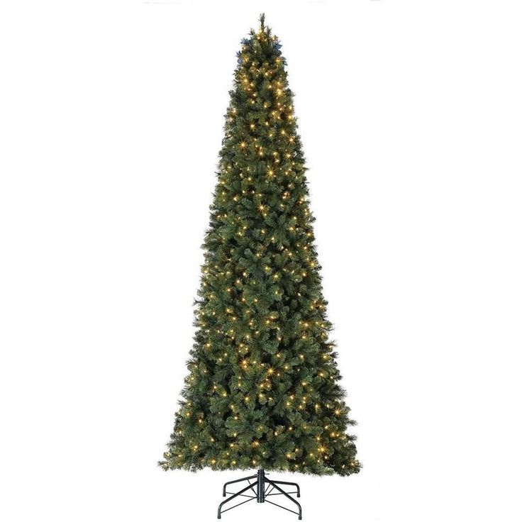 10 Ft Pre Lit Meadow Fir Quick Set Artificial Christmas Tree With Surebright Clear Lights Meat661 9ft Christmas Tree Christmas Tree Artificial Christmas Tree