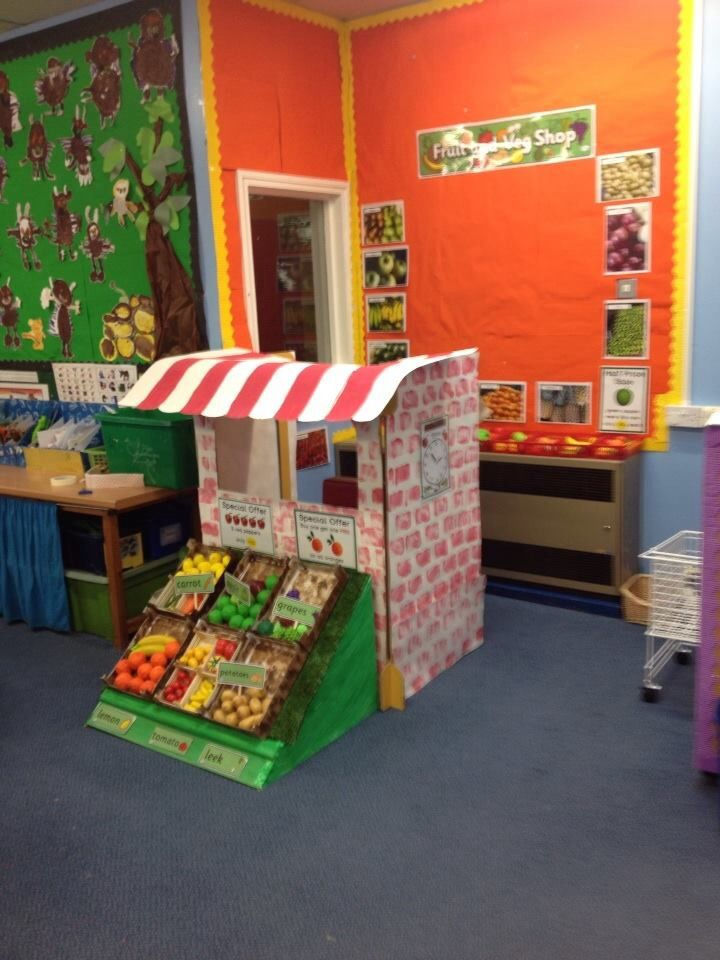 Our lovely new fruit and veg shop