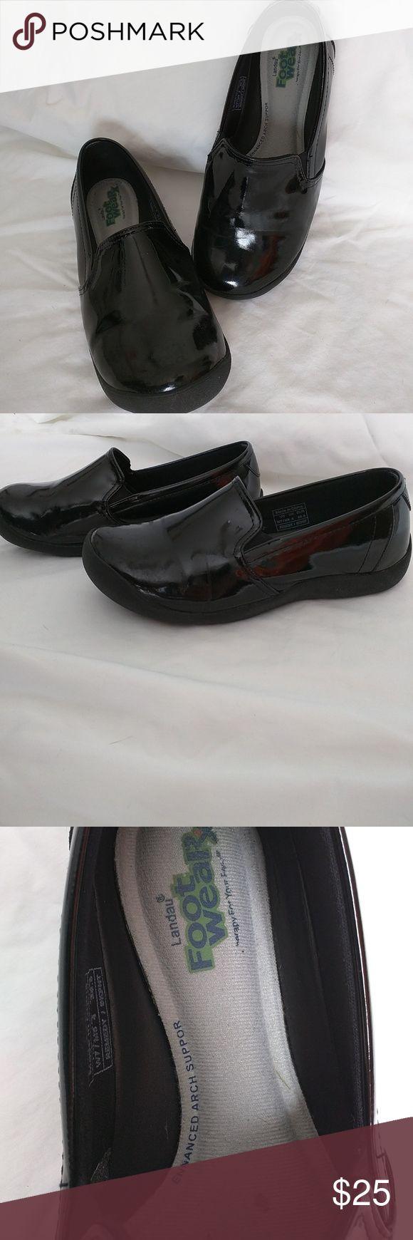 Landau Nursing shoes. Size 8.5 Only worn a handful of times. Patent leather outer shoe. Super comfy memory foam inner sole. Landau Shoes Mules & Clogs