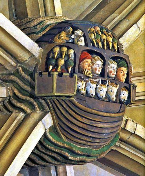 Alfius De Bux | Noah's Ark - Roof boss in Norwich cathedral …