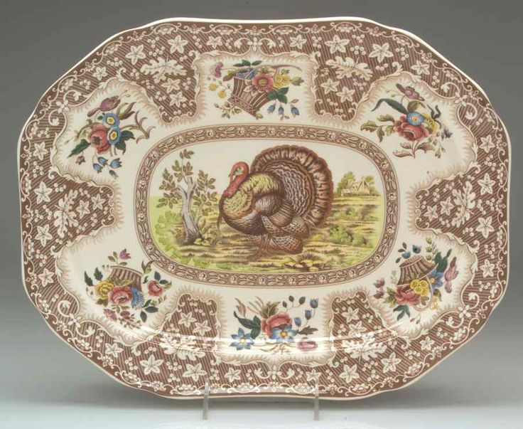 Spode THANKSGIVING TURKEY Serving Platter 16\  2292676 & 20 best Turkey Platters images on Pinterest | Vintage thanksgiving ...
