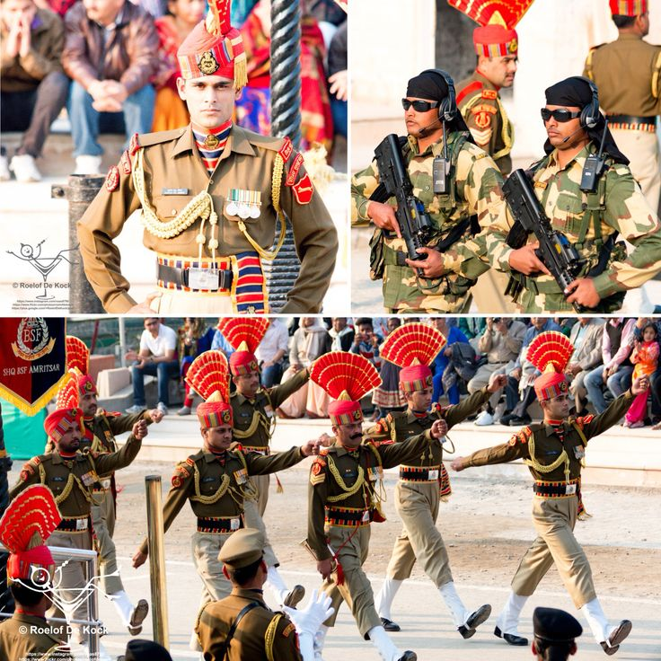 India Pakistan border closing ceremony – At the Attari-Wagah border post. What actually happens is a show of strength between India and Pakistan. The military treat the ceremony with intense seriousness while the crowds on both sides applaud, chant and dance Bollywood style.  #vaas8790 #india #amazingindia #wagahborderattari #indiapakistanborder #borderclosing #amritsar #attari #borderclosingceremony #travelindia #incredibleindia