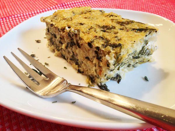 Vegan Spinach and Lemon Quinoa Bake - Quinoa baked in the oven! #vegan ...