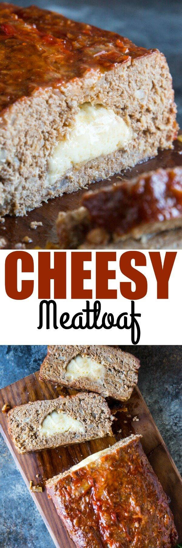 Mom's best 6-ingredient meatloaf is now the ultimate comfort food: Stuffed with cheese! Double the recipe; you'll want leftovers for sandwiches! via @culinaryhill