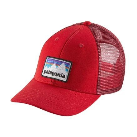 Patagonia Shop Patch LoPro Trucker Hat Fire
