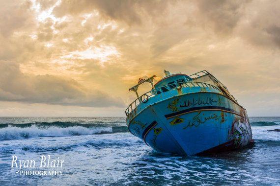 "Travel Photography - ""Shipwreck, Corfu, Greece"" - Glossy/Pearl/Lustre Fine Art Print"