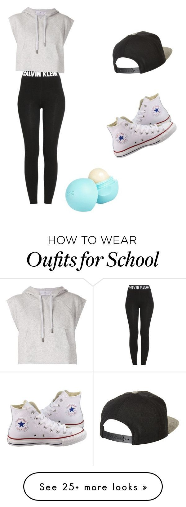"""going to school"" by arionnaparto on Polyvore featuring Calvin Klein, adidas, Converse, Brixton and River Island"