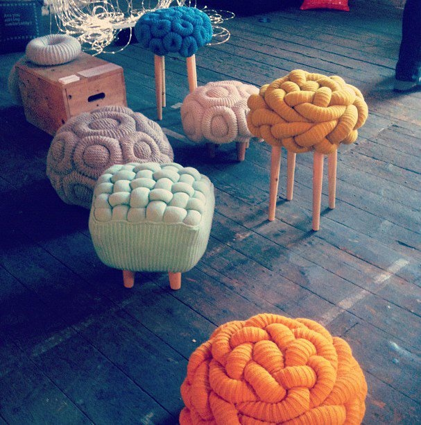 Knitted Stool By Claire Anne Ou0027Brien At Designers Block