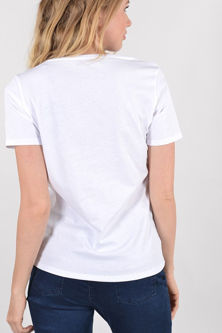 Pagaie tee shirt mc Réf :  17TS1844 Tee shirt PAGAIE basique en coton, près du corps. avec son motif marin minimaliste, il sera parfait sur un jean avec des petites tennis. #Antonelleparis #tshirt #top #blanc  #clothing #mariniere #paris #france  #lookoftheday #bleu #blanc #rouge  #womenswear #closet #trend   #ss17 #charmefrancais