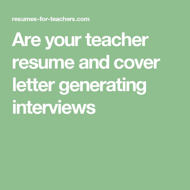 The 25+ best Cover letter generator ideas on Pinterest Cv - cover letter for teachers resume
