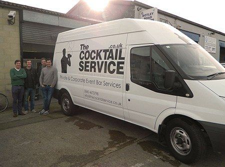 cocktail service van sign writing oxford