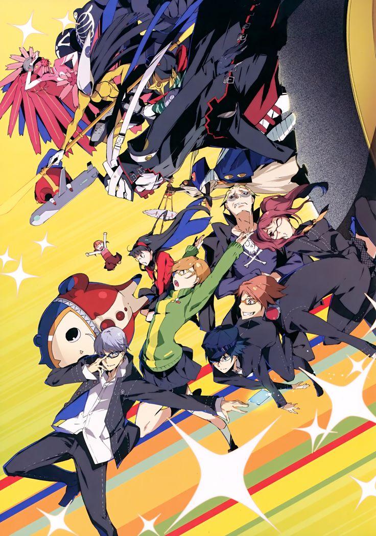 Tags: Scan, Amagi Yukiko, Satonaka Chie, Shin Megami Tensei: PERSONA 4, Kujikawa Rise, Narukami Yu, G Yuusuke