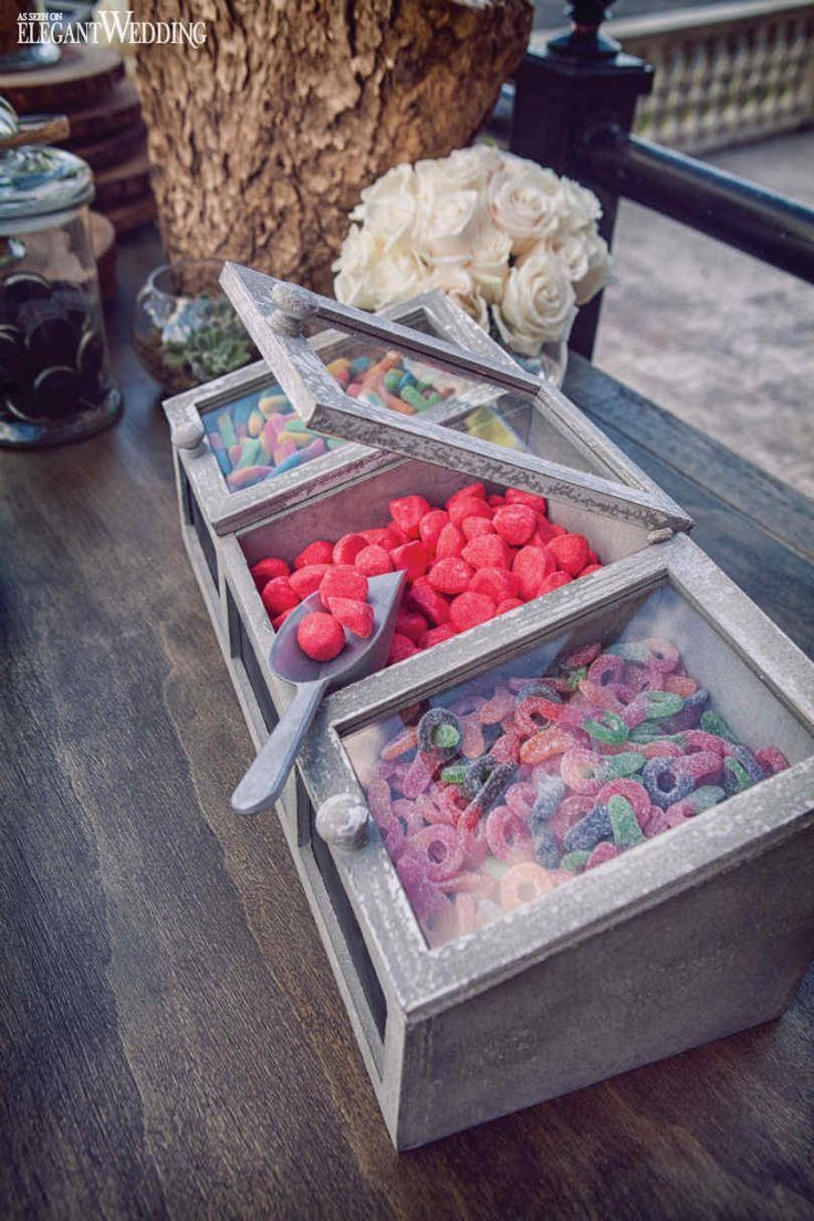 Wedding candy for a rustic sweet table! RICH AND RUSTIC MONTREAL WEDDING INSPIRATION http://www.elegantwedding.ca