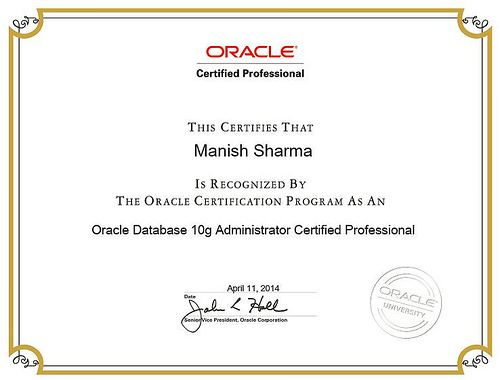 oracle dba certified professional certification ocp data database 10g last line exam