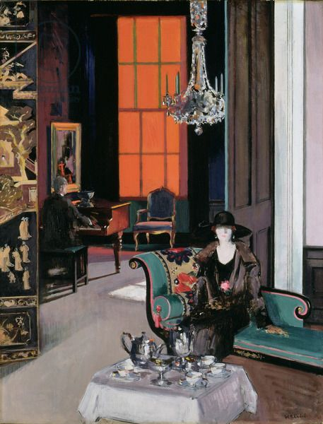 Interior: The Orange Blind, c.1928, Francis Campbell Boileau Cadell