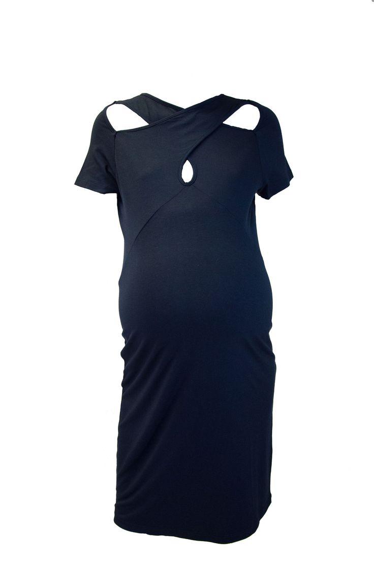 Women's Navy Blue Maternity Dress
