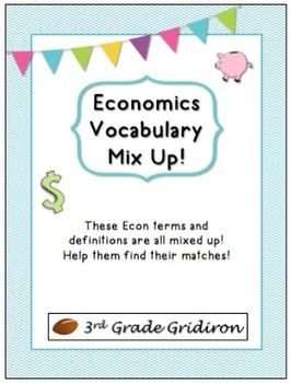 FREE Economics Vocab Mix Up - six pg vocabulary center; students will match the term to its correct definition; great way to practice and master ECON vocab