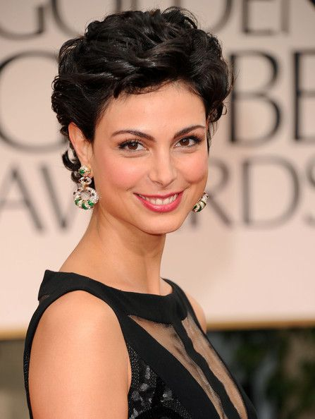 short hair styles morena baccarin | Actress Morena Baccarin arrives at the 69th Annual Golden Globe Awards ...