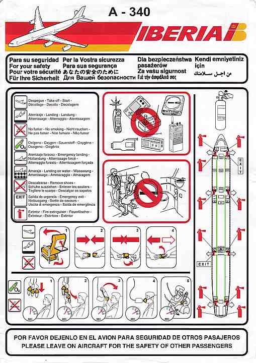 Best Airline Safety Cards Images On   Plane Aircraft