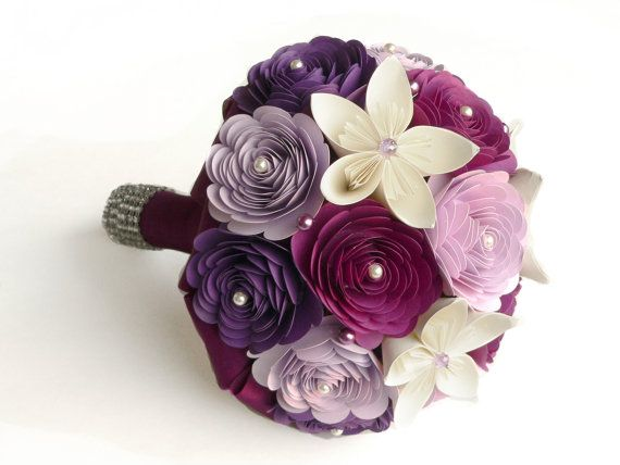 Purple Wedding Bouquet Sangria Bouquet Lilac by LoveAccented