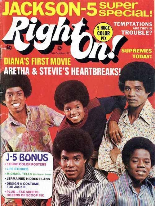 Right On! magazine, October 1971 - Jackson 5 Super Special!