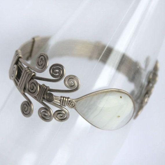 cuff adjustable bracelet  onyx // armband // wrist // by ArtePora